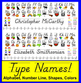 Desk Plates - Name Plates-D'Nealian-Type Names of Students!