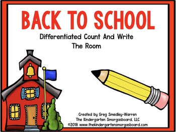 Back To School Differentiated Count And Write The Room!  A