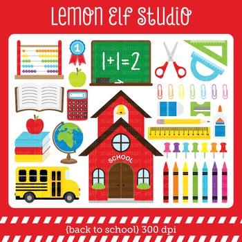 Back To School-Digital Clipart (LES.CL17)
