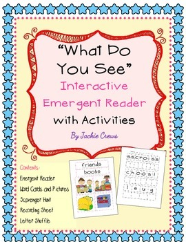 """"""" What Do You See?"""" Emergent Reader With Games and Activities"""