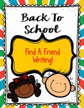 Back To School-Find A Friend Writing