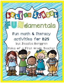 Back To School 'Fun'damentals {Math and Literacy Activities}