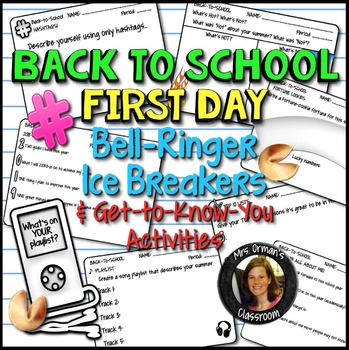 Back To School Beginning of the Year Icebreaker Bell Ringe