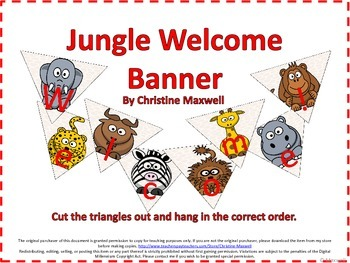 Back To School Jungle Welcome Banner