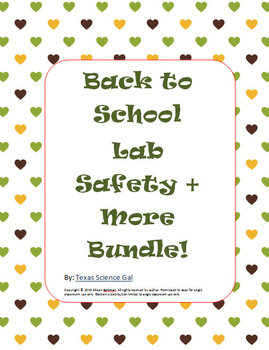 Back To School-Lab Safety + More Bundle