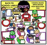 Back To School Labels Clip Art Bundle