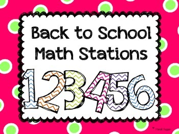 Back To School Math Stations FREEBIE