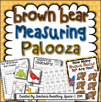 Back To School Measuring - Brown Bear Measuring Palooza Ma