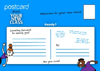 Back To School- New Students: Moving Up A Grade Welcome Postcard