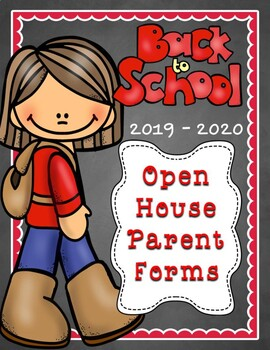 Back To School Night/Open House Parent Forms for 2016-2017