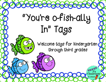 """Back To School """"O-fish-ally in"""" Tags K-3"""
