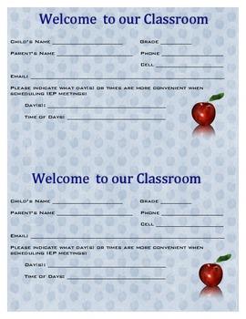 Back To School Parent Information