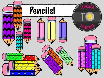 Back To School - Pencil Patterns {TeacherToTeacher Clipart}
