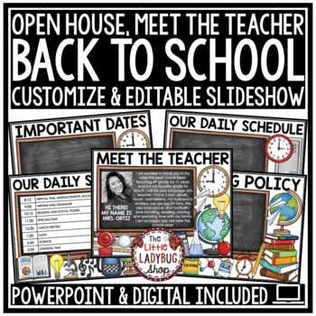 Back To School PowerPoint for Open House and Meet The Teacher