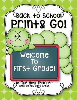 Back To School Print, Rhyme & Go! First Grade, Common Core