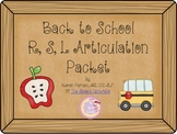 Back To School R,S,L Artic Packet