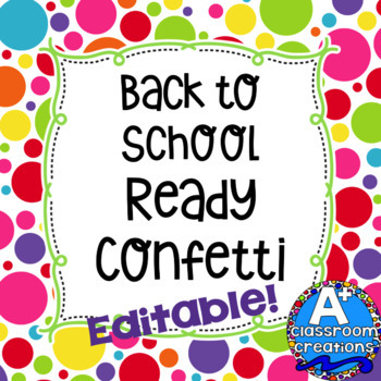 Back To School Ready Confetti