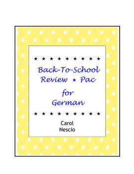 Back-To-School Review*Pac For German