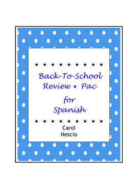 Back-To-School Review * Pac For Spanish