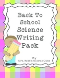 Back To School Science Writing Pack