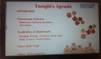 Back-To-School - Slides for SMARTboard