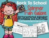 Back To School Spinner Fun Galore-Differentiated Alpha Pri