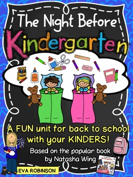 Back To School- The Night Before Kindergarten FUN Learning Unit
