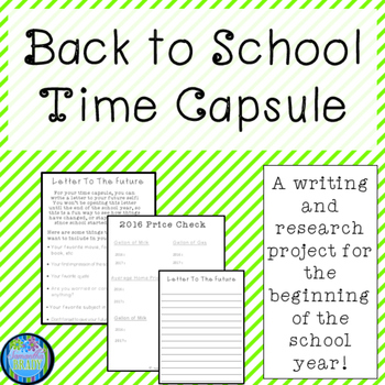 Back To School Time Capsule-Updated (2016-2017)