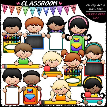 Back To School Topper Kids Clip Art - School Supplies Topp