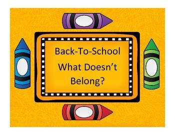 Back-To-School: What Doesn't Belong Freebie