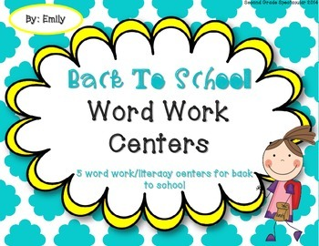 Back To School Word Work Centers