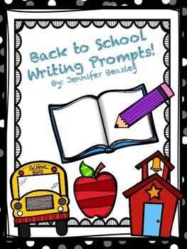 Back To School Writing Prompts--Freebie!