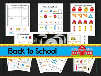 Back To School preschool curriculum package. Great for day