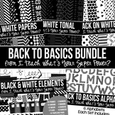 Digital Paper Frames and More Back to Basics Black and Whi