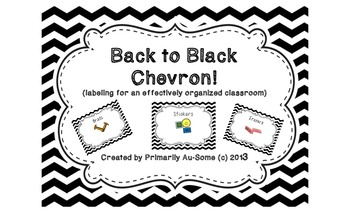 Back to Black!  (Labels for an effectively organized classroom)