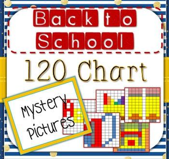 Back to School 120 Chart Mystery Pictures