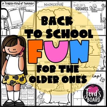 Back to School Activities for Big Kids
