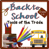 Back to School Teaching Tools