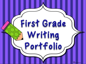 Back to School 1st First Grade Writing Portfolio Package A