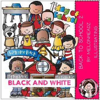 Melonheadz: Back to School clip art Part 2 - BLACK AND WHITE