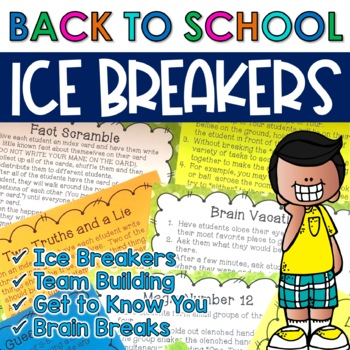 Back to School - 40 Ice-Breakers, Brain Breaks, Get-to-Kno