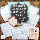 Back to School ~ 4th, 5th, 6th  Grade ~ First Day of School Activities
