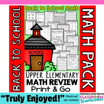 Back to School Math Worksheets: 4th Grade Back To School M