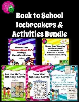 Back to School 5 Icebreakers & Activities Bundle Class Rul