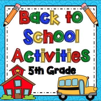 Back to School 5th Grade