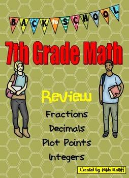 Back to School 7th Grade Math