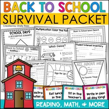 First Week of School Survival Packet - Printables, Pennant