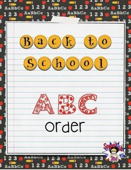 Back to School ABC Order {FREEBIE}