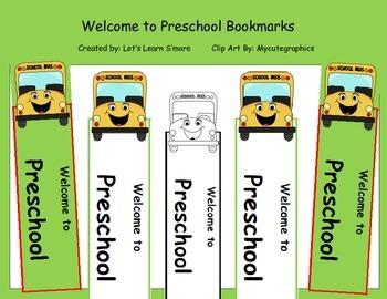 First Week of School, Back to School Activities Bookmarks Freebie