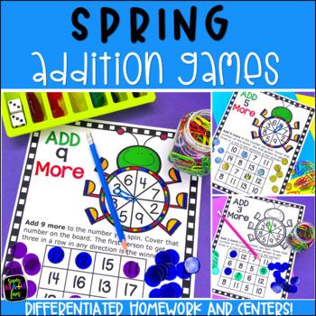 Addition Games No Prep